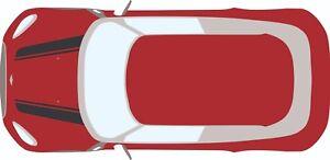 Genuine 3M vinyl Mini R60 Countryman/Clubman Bonnet Stripes x2