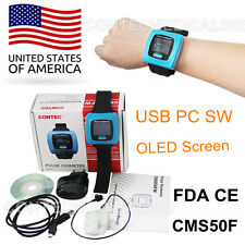CONTEC CMS50F Wrist Pulse Oximeter, OLED, USB PC Software, Alarm, 24h Record