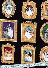 Retrato De Gato 100% Cotton Quilting fabric 72 paneles individuales (9 Diseños)