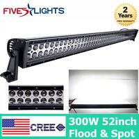 52inch 300W LED Work Light Bar Offroad Driving Combo Ford 4X4WD Bumper Vehicle