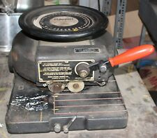 """old Marsh Model S 3/4"""" Stencil Cutter Cutting Machine with table"""