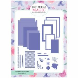 Card Making Magic Die Set Complete A5 Card & Box Set of 22 Christina Griffiths