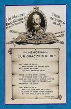 1936 PC - IN MEMORIAM KING GEORGE V - VALENTINE'S PUBLISHED