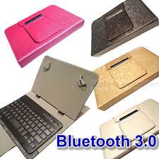 Cuoio Custodia Tastiera Bluetooth per Samsung Galaxy Tab 4 7 Inch Tablet