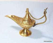 Aladin Genie Oil lamps 6.5'' Brass Magic Lamp Aladdin Middle Eastern Chirag
