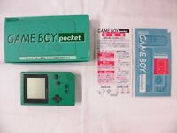 W3953 Nintendo Gameboy pocket console Green Japan GB w/box