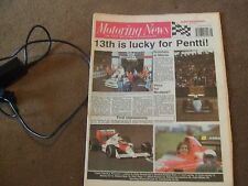 Motoring News 29 November 1989 RAC Rally Report Macau GpA F3 Steve Palmer