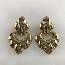 Vintage Gold Door Knocker Earrings Napier Large Statement Beautiful