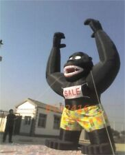 20Ft Inflatable Black Gorilla Advertising Promotion With 110V680W Blower NEW