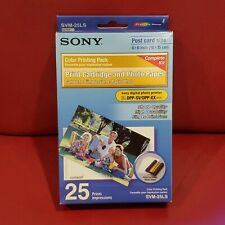 "SONY Color Printing Pack SVM-25LS * 25 Sheets 4x6"" Photo Paper & Cart * SEALED"