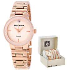 Anne Klein Quartz Ivory Dial Ladies Watch and Bracelet Set AK/3382IVST