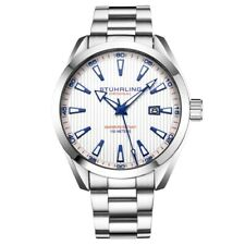 Stuhrling 3953 3 Symphony Quartz Date Stainless Steel Bracelet Mens Watch