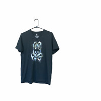 Psycho Bunny Men's Classic Pima Cotton V-Neck Short Sleeve T-Shirt Size 4 black