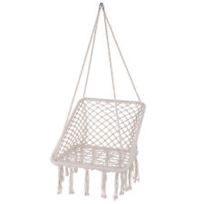 New listing Hammock Chair Swing Hanging Rope Seat Cotton Fabric Net Chair Outdoor Indoor