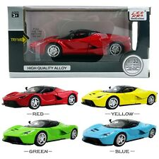 1PC La Ferrari Diecast Model Car Kid Boy Pull Back LED Vehicle Playset Toy Decor