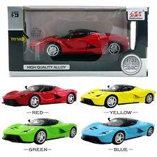 1PC 1:32 La Ferrari DieCast Model Car Kid Pull Back Friction Vehicle Toy LED
