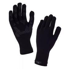 Sealskinz Ultra Grip Gloves - Fully Waterproof, Windproof & Breathable - Black