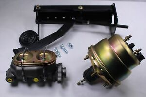 """Universal Under Dash Pedal With 7"""" Dual Booster + Master Cylinder GM"""