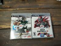 NCAA Football 12 & 13 (Sony PlayStation 3 PS3, 2012) Lot Combo