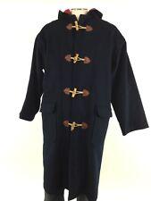 Willis & Geiger Wool Hooded Duffle Coat M Toggle Loop Rope Fishermen Jacket Mens