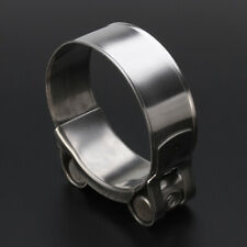 """Universal Motorcycle 2"""" 51mm Band Exhaust Pipe Clamp Calipers Stainless Steel"""