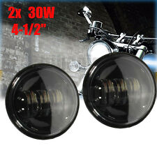 2x 4.5 Inch Cree 6 Led Auxiliary Passing Fog Light Daymarker Drl Lamp For Harley