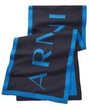 Armani Logo Scarf Navy Blue Unisex OS New