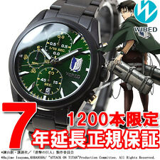 SEIKO SHINGEKI NO KYOJIN LEVI WIRED LIMITED EDITION 1200 ATTACK ON TITAN