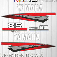 Yamaha 85 HP Two 2 Stroke outboard engine sticker decal kit reproduction 85HP