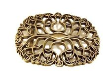 Tree Belt Buckle Leaves Autumn Fall Women's Gold Boho Floral Flower Country Leaf
