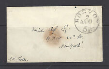 Stampless cover postmarked Boston, MA no year