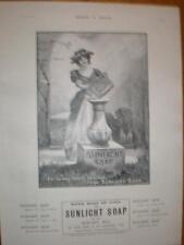 Sunlight Soap garden idyll art advert UK 1901