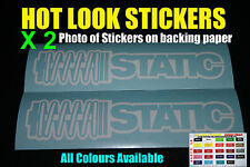 Static Sticker Bomb X2 Decal JDM Koni Bilstein Coilover Shockers Low Stance