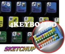 Google SketchUp keyboard sticker