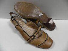 Chaussures VIRUS MODA marron FEMME taille 37 escarpins ouvert shoes NEUF #19822