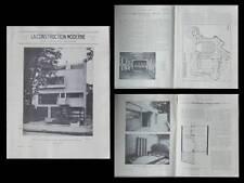 CONSTRUCTION MODERNE 51 1929 BRUXELLES, VICTOR HORTA, BOULOGNE, RAYMOND FISCHER