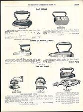 1918 ADVERTISEMENT Toy Sad Irons Williams ACW Ravenne Ohio Polishing Flounce