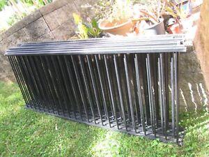 16 Meters Aluminium Garden/Pool Fence Panels, black color,  92 cm H