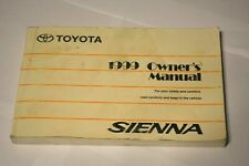 1999 TOYOTA SIENNA OWNERS MANUAL BOOK