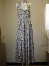NEXT Ladies wear very pretty halter dress cream with flowers size 8 Worn once