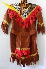 CARNEVALE WIDMANN COSTUME INDIANO AMERICAN INDIAN TAGLIA S 5-7 ANNI 128 CM CIRCA