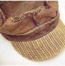 Schirmmütze Cord Brauntöne Kappe Hat cap Inside-Out-Look Herbst Used Look