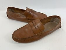"""EUC Cole Haan """"Rodeo"""" Penny Driver Loafer Tan Camel Driving Leather Shoes 8.5B"""