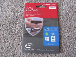 McAfee LiveSafe ULTIMATE Protection for your Data, Identity, and all your Device