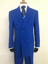 Mens' Double Breasted Suit W/Pant Back,Cream,Navy, White, Royal,Red, White,Tan