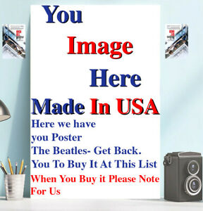 Custom Printed Poster YOUR PHOTO POSTER Image Picture Poster Full Size