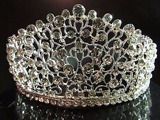 Elegant Beauty Pageant Queen Cluster Rhinestone Bridal Wedding Prom Tiara Crown