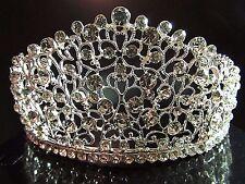 Elegant Beauty Pageant Queen Cluster Rhinestone Bridal Wedding Prom Tiara Crown