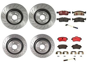 Brembo Front Rear Brake Kit Disc Rotors Ceramic Pads For MB W166 ML350 with P31