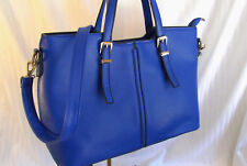 NEW LARGE CROSS BODY OR SATCHEL CUBS OR ROYALS BLUE EAST WEST TOTE PURSE